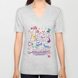 Alice's Adventures in Wonderland - Lewis Carroll Unisex V-Neck