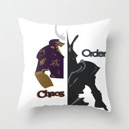 Chaos & Order Throw Pillow
