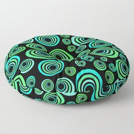 Neon blue and green Floor Pillow