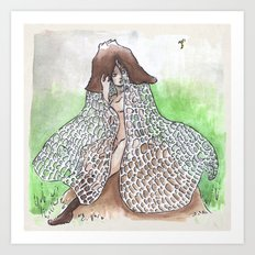 Empire of Mushrooms: Phallus indusiatus Art Print