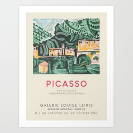 Pablo Picasso. Exhibition poster for Galerie Louise Leiris in Paris, 1962. Art Print