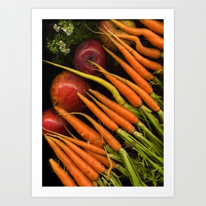 Carrots and Apples Art Print