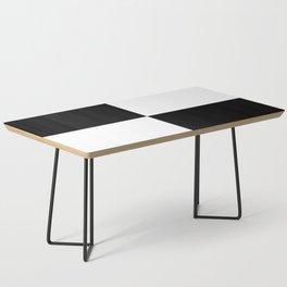 Black & White Squares Coffee Table