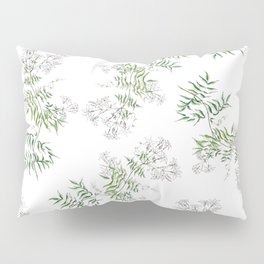 Jasmine Flower Illustration Pillow Sham