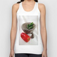 mexican Tank Tops featuring Mexican mortar by lennyfdzz