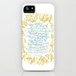 Take Delight in the Lord- Psalm 37:4-6 iPhone Case