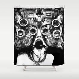 asc 712 - Le masque de la Méduse (Object woman) Shower Curtain
