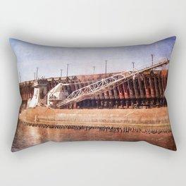 Vintage Great Lakes Freighter Rectangular Pillow