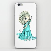 frozen elsa iPhone & iPod Skins featuring Elsa Frozen by Cleachan Ilustration