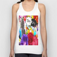 okay Tank Tops featuring okay... by Aldo Couture