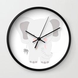 Elephant - jumbo GREY Wall Clock