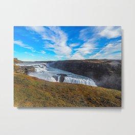 Gulfoss waterfall Metal Print