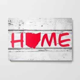 Ohio State Home Pride Wood Print Metal Print
