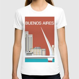 Buenos Aires, Argentina - Skyline Illustration by Loose Petals T-shirt