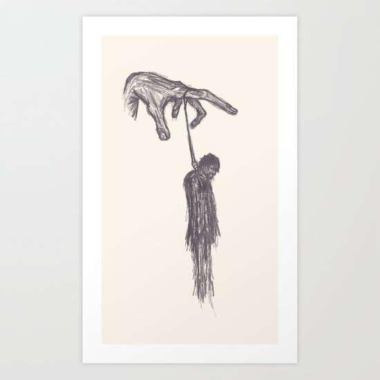 Handing Man Art Print