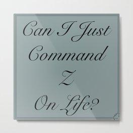 Command Undo Metal Print