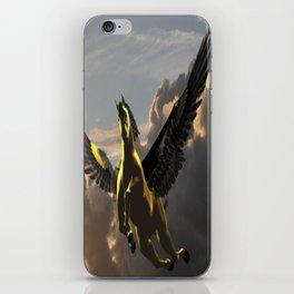 Goldern Pegasus iPhone Skin