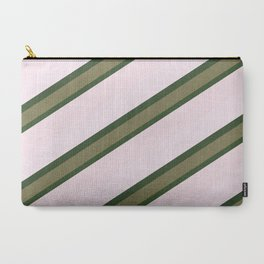 Pink Roses in Anzures 2 Stripes 3D Carry-All Pouch