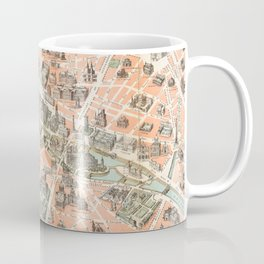 Vintage Paris Map Coffee Mug