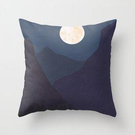 The Mountains At Night Throw Pillow