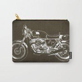 2010 Moto Guzzi V7 Clubman Racer brown blueprint Carry-All Pouch