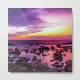 PURPLE SEASCAPE SUNSET Metal Print