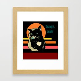 So angry... Again! (Posterized angry cat) Framed Art Print