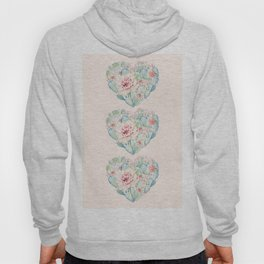 Three Hearts Cactus Rose Hoody