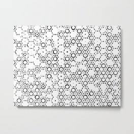 Flowers - abstract pattern faded monochromatic Metal Print