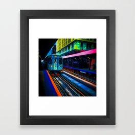 Brown Line Approaching Framed Art Print