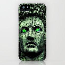 Angry Caesar Augustus Photo Manipulation Portrait iPhone Case