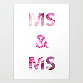 Ms & Ms Wedding Card Art Print