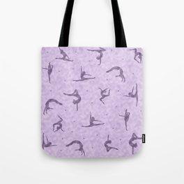 Violet Gymnastics Duvet Tote Bag
