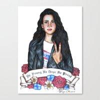 lana del rey Canvas Prints featuring Del Rey, Lana by boypetal
