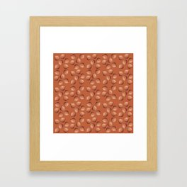 Orange small Clams Illustration pattern Framed Art Print