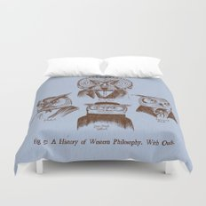 A History of Western Philosophy. With Owls. Duvet Cover