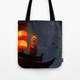 Fox Shrine Guardian  Tote Bag