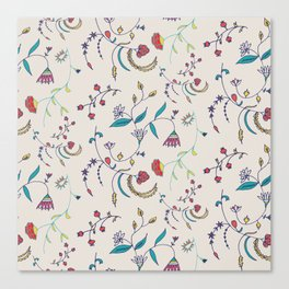 Chintz Pearl Blue #floralchintz Canvas Print