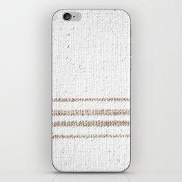 Vintage Farmhouse Grain Sack - Sandstone Stripes iPhone Skin