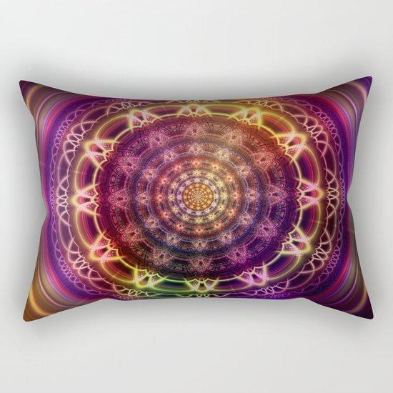 Golden shine mandala Rectangular Pillow