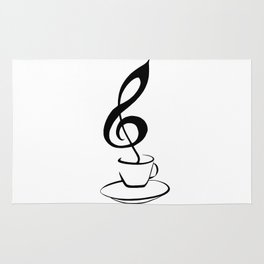 Music and coffee Rug