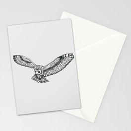 Original - owl in flight illustration Stationery Cards