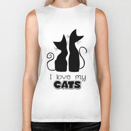 I Love My Cats (Lights) Biker Tank