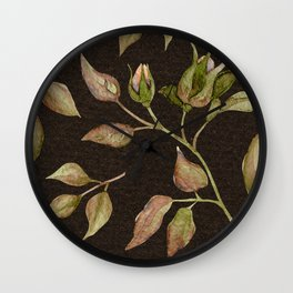 Elegant Victorian Vines and Flowers Wall Clock