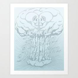 M.A.D. (blue) Art Print