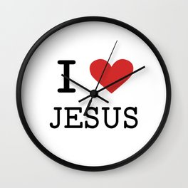 Christian,Bible Quote,I love Jesus Wall Clock