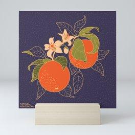 Orange Branch Mini Art Print