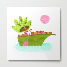 Berry Boat - Tonia Dee Nature Girls Metal Print