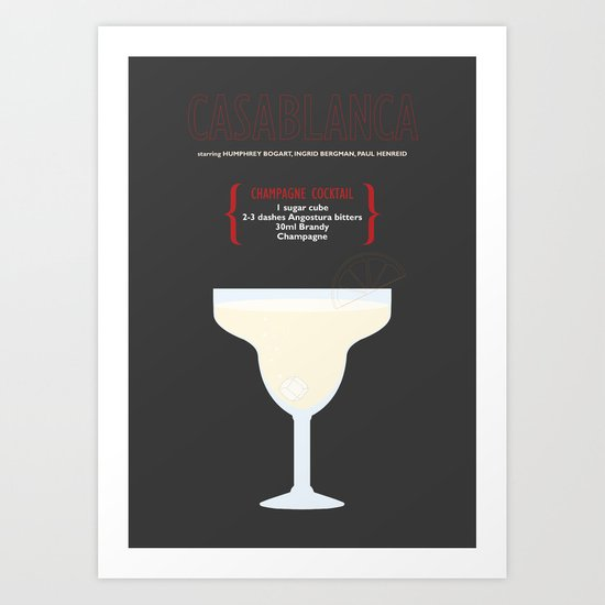 CASABLANCA _MOVIE COCKTAIL_Michael Curtiz Art Print