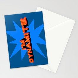 I'm Dynamite (dark blue) Stationery Cards